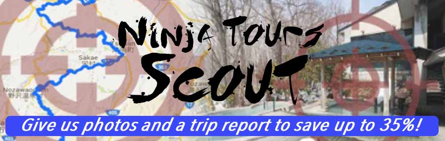 NinjaTours Scout Package Give us photos and a trip report to save up to 35 percent