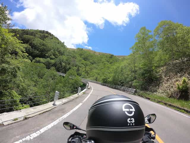 Japan Motorcycle tour ninjatours Matsumoto mountain view and curvy roads