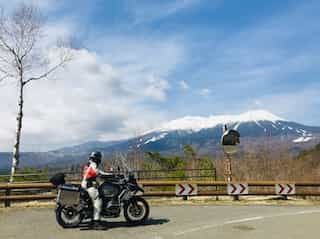 japan motorcycle rentals ninjatours beautiful mountain range road parking area