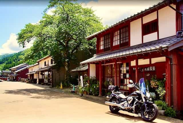 Japan motorcycle tours ninjatours kyoto maizuru traditional shopping street