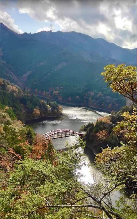 Japan motorcycle tour ninjatours kagawa dogo onsen river bridge
