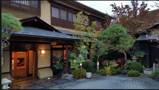 Japan motorcycle tours ninjatours kiso matsumoto ryokan outside