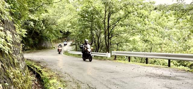 Japan motorcycle tours ninjatours tokyo kawamata windy mountain road
