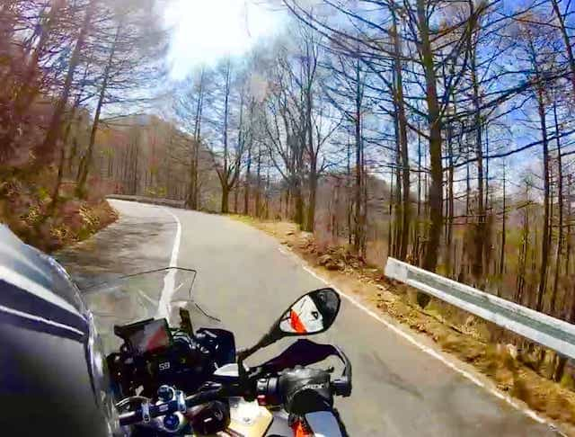 japan motorcycle tours ninjatours mt fuji kiso autumn road with trees